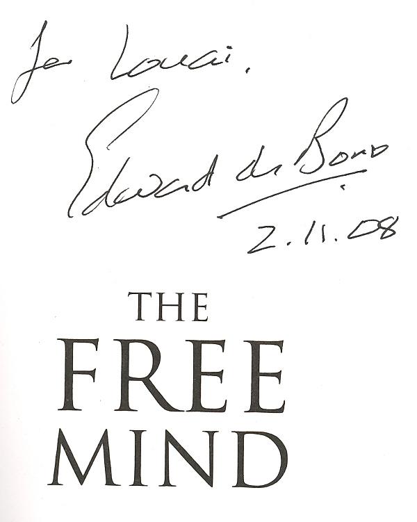 autograph-edward-debono