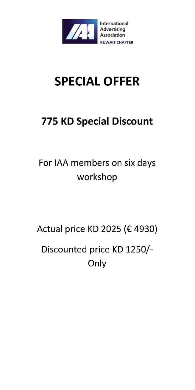 SPECIAL OFFER FOR IAA MEMBERS-2